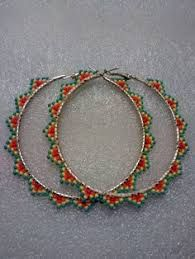 Resultado de imagen de brick stitch hoop earrings