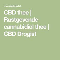 CBD thee | Rustgevende cannabidiol thee | CBD Drogist