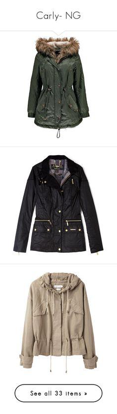 """Carly- NG"" by inestrindade on Polyvore featuring outerwear, coats, jackets, parka coat, hooded parka, faux fur trim parka, fur-lined parkas, boohoo coats, coats & jackets and pocket jacket"