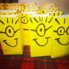 Minion bag party favor despicable me party birthday