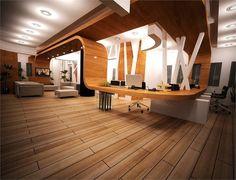 Office Reception Desk Wood Design
