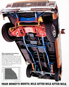 1975 Ad Chevy Chevrolet Pickup Truck Farming Engine Chassis Bonus Cab El SF4