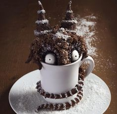 I think Archie McPhee hit the nail on the head when they compared the work of Tim Burton to this Mud Cake Monster by Mélanie Launay. It's made with chocolate, coffee and coco mud cake, dark chocolate …
