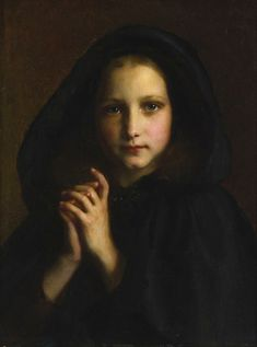 """""""Girl with a Mantle"""" by Étienne-Adolphe Piot, 1871"""