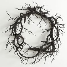 Creepy Black Branch Wreath