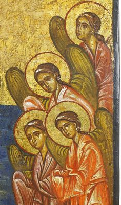 Detailed view: UU006. Baptism of Christ- exhibited at the Temple Gallery, specialists in Russian icons