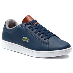 4f74a4271f808 Sneakersy LACOSTE - Carnaby Evo 318 2 Spm 7-36SPM00102Q8 Nvy/Brw - Sneakersy