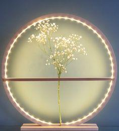 Lampe soliflore 60 cm en bois naturel (hêtre) Led, Artisanal, Dandelion, Flowers, Plants, Natural Wood, Flora, Royal Icing Flowers, Dandelions