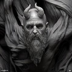 ArtStation Misc (God of War) Raf Grassetti Anatomy Sculpture, Kratos God Of War, Satanic Art, Occult Art, Religious Art, Zbrush, Dark Art, Sculpting, Fantasy Art