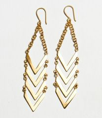 Chevron Dangle Earrings, made in Africa - Noonday