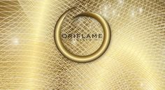 Oriflame logo in gold
