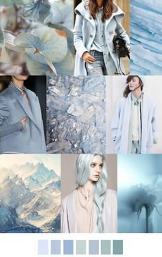 Frozen ice blue color swatches. Soft, calm, and elegant. #iceblue #colorswatches