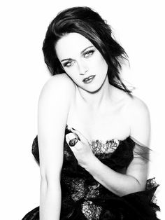 kristen stewart in black and white pictures