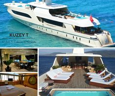 Boasting 47.5m the 10 person 7 crew #megayacht KUZEY T is available for #charter #Greece #Turkey.