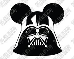 Mickey Mouse Darth Vader Ears SVG Cut File Set for Disney Star Wars Shirts in SVG, EPS, DXF, JPEG, and PNG for Cricut, Silhouette, and Brother ScanNCut