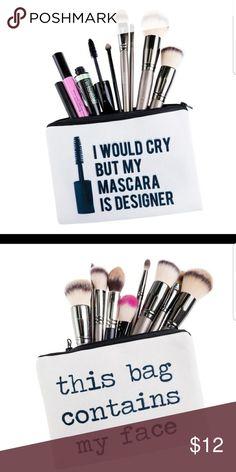 2 MAKE UP BAGS Brand new Makeup
