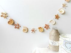 Beach theme garland - sea star and sea shell decor – a unique product by eljuks. Via en.DaWanda.com.