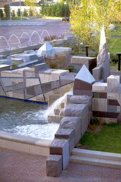 Murfreesboro Civic Gardens | Built atop the roof of an underground parking structure, this landmark civic plaza in Murfreesboro, Tennessee provides an inviting open space for the community, and includes a fountain and gardens that reflect the region's natural geologic elements. - See more at: http://www.reasite.com/projects/murfreesboro-civic-gardens/#sthash.xxTwOlPU.dpuf
