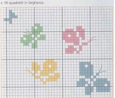 Butterfly Cross Stitch, Mini Cross Stitch, Simple Cross Stitch, Cross Stitch Animals, Cross Stitch Flowers, Cross Stitch Bookmarks, Cross Stitching, Cross Stitch Embroidery, Embroidery Patterns