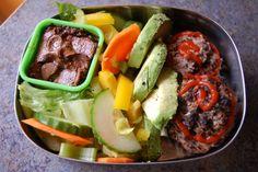 Black bean burgers vegan gluten free bento