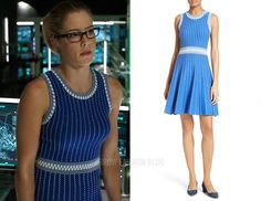 Felicity: Blue Two-Tone Textured Dress with Stitching Detail – Arrow Fashion Blog