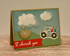 Card by SPARKS DT Trisha Theophilopoulos PS stamp sest: My Guy, I Blank You; PS dies: My Guy, Borders 1, Clouds