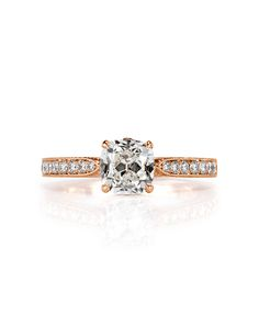 Old mine cut diamond engagement ring | Mark Broumand 4426 | http://trib.al/XtUjHNp