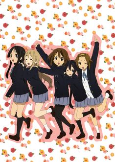 K-ON! (Mio, Mugi, Yui, Azu-nyan and Ritsu!)