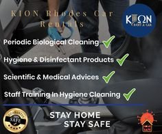 Due to coronavirus (COVID-19) we would like to inform our customers that we comply with all hygiene rules to deliver a clean and safe car to you ! 🇬🇷🚙  Stay Home, Stay Safe 🙏  www.kionrhodes.com #coronavirus #stayhome Low Cost Cars, Suzuki Alto, Fiat Panda, Car Rental Company, Nissan Qashqai, Staff Training, Best Rated, Car Brands, Medical Advice