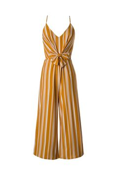 a98931d32bf2 Saifya Striped Yellow Jumpsuit Free Shipping!  shop  sale  jumpsuit  yellow