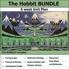 5 weeks of lesson plans. Includes pacing guide, film essay, activities, chapter quizzes, and discussions. This bundle has everything you need to get started teaching The Hobbit in an engaging way!