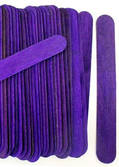 Jumbo Purple Craft Sticks | Wholesale Craft Sticks | CraftySticks.com