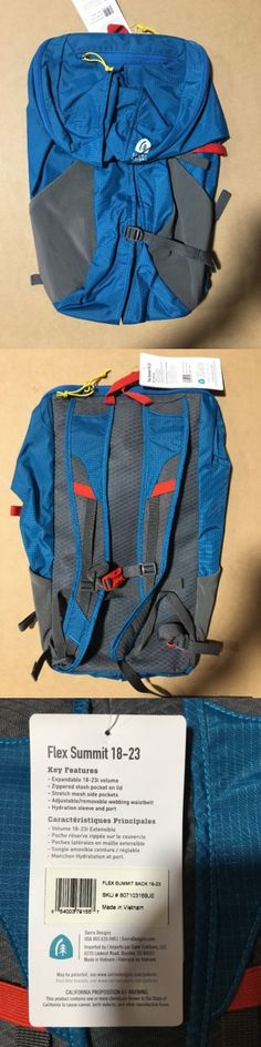 Backpacks 181379: Sierra Designs Flex Summit Sack 18-23 Liter Backpack - Blue Jewel - Brand New -> BUY IT NOW ONLY: $44.95 on eBay!