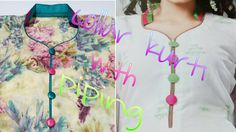collar neck cutting and stitching for kurti/kameez - YouTube