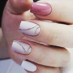 Как вам такой маникюр?  #honeygirlinua #honeygirl #gelpolish #silver #pink #red #nails #happy