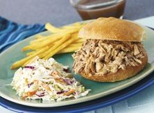 Memphis-Style Pulled Pork with Old-Fashioned Coleslaw - Publix Aprons Simple Meals Boneless Pork Loin Roast, Carolina Pulled Pork, Publix Recipes, Healthy Mexican Recipes, Juicy Pork Chops, Pulled Pork Recipes, How To Cook Pork, Slaw Recipes, Bbq Pork