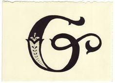 Day 136 • G • Handwritten Letters