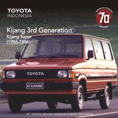 Kijang generasi ketiga disebut Kijang Super karena sebagai sebuah produk Super dari Toyota Kijang. Dengan desain bodi yang serba baru, serta penerapan teknologi full pressed bodi pada saat pembuatannya menjadikannya sebagai produk andalan pada masa itu. #InfoTMMIN #KijangHistory