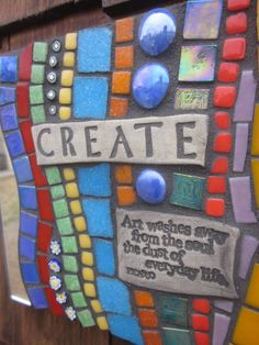 CREATE Mosaic Plaque with Picasso Quote by by CopperCatStudio - I want this!