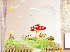 Diy Large Size Dream Countryside Big Mushroom by ThemeDecal