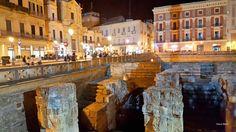 Lecce, Italy at night