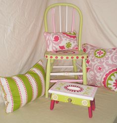 Child's Hand Painted Chair.