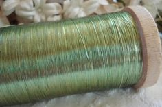 Antique French Early Flat Fine Light Olive by VintageCottageFinds, $6.00