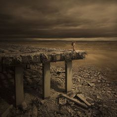 Tales From the Wasteland VI de Karezoid Michal Karcz, digitalart, apocalypsis Post Apocalypse, Apocalypse World, Cyberpunk, Science Fiction, Landscape Artwork, Fantasy Landscape, Post Apocalyptic Art, World Photography, End Of The World