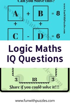 Can you solve this maths logic brainteaser? #logic #reason #brainteasers #brainteaser #puzzles #puzzlesfordays #puzzletime #puzzlegames #LockdownPuzzles #Mathspuzzle #puzzle #riddles #riddle #math #brain #reasoning #iq Logic Math, Maths, Train Your Brain, Activity Sheets, Brain Teasers, Question And Answer, Puzzle Board, Riddles, Math Activities