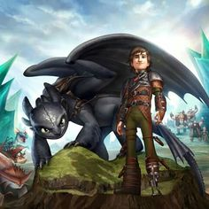 Hiccup and Toothless. :)