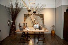 Photos by Mark Iantosca. Fashion Showroom, Pretty Room, Dining Room Inspiration, Amazing Spaces, Rustic Chic, Retail Design, Home Decor Styles, Interior Design, Interior Ideas