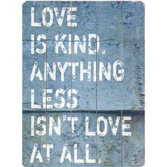 Love Is Kind Wall Decor