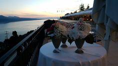 Perfect wedding setting at Le Mirador Resort & Spa, Lake Geneva, Switzerland. Geneva Switzerland, Lake Geneva, Above The Clouds, Wedding Sets, Resort Spa, Perfect Wedding, Fairy Tales, Flower Decorations, Switzerland