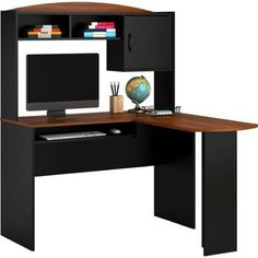 Inval Computer Work Center With Hutch Espresso Wengue Finish For The Spot Pinterest Home Office Desk And Garden